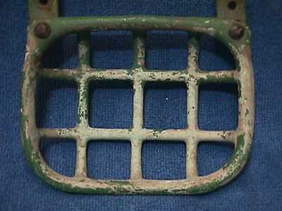 Antique CAST IRON Tub Wall Mount SOAP Holder GREEN Primitive PAINT + Hardware