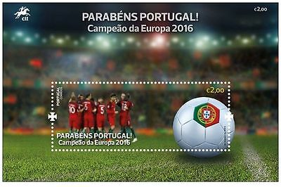 Portugal Euro 2016 European Football Champions, Stamp Block Mint Never Hinged !!