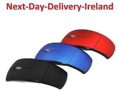 USB 2.4G Snap-in Receiver Optical Foldable Folding Arc Wireless Mouse Retro