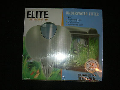 Hagen Elite Stingray 10 Underwater Aquarium Filter 50L 10UKgal New