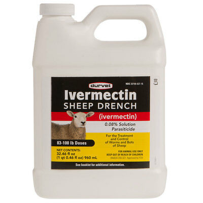 IVERMECTIN SHEEP DRENCH Treatment and Control of Worms and Bots of Sheep 960ml