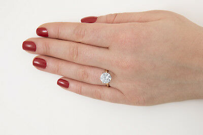 14k Solid Yellow Gold Engagement Ring 3.00ct