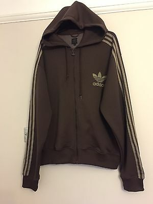 Adidas Hooded Vintage Tracksuit Top Size XXL