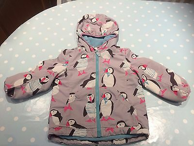 Girls Boden Puffin Coat 2-3 Years