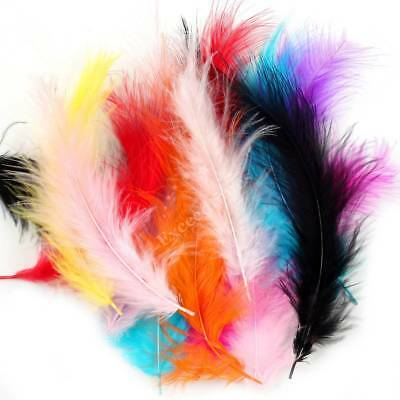 4-6'' 100X FLUFFY SOFT Rooster Tail FEATHERS CRAFTS FRINGE TRIM EMBELLISHMENTS