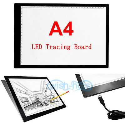 1x A4 USB 5V LED Light Tracing Board Pattern Art Tattoo Design Copying Drawing