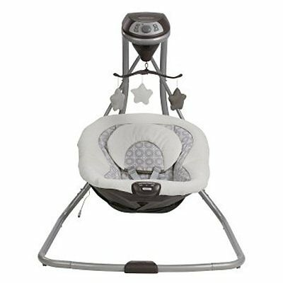Graco Simple Sway BABY SWING, 2 Speed Vibration Portable TODDLER SWING Abbington