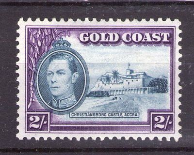 GOLD COAST  GEORGE VI 2/- SG130  12x12 perf. superb lightly hinged condition.