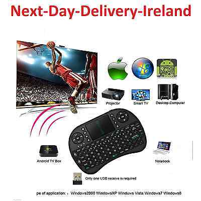 i8 2.4GHz USB Wireless Black Keyboard Keypad Air Mouse for Android & Windows TV