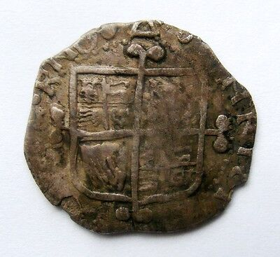 17th Century Contemporary Silver Clad Counterfeit Charles 1st Shilling Forgery