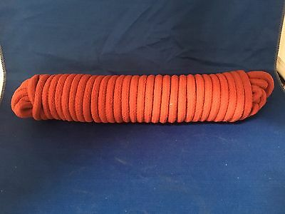 Cotton Magician's Rope - Thick Red 10mm Diameter - Rope Routine Prop - 25Ft