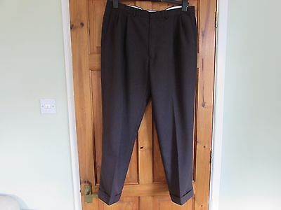 M&S northern soul / 50s twin pleated turn up trousers W 38 X L 29
