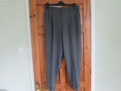 northern soul / 50s twin pleated turn up trousers W 34 X L 29