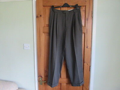 50s / northern soul twin pleated turn up trousers W 34 X L 29