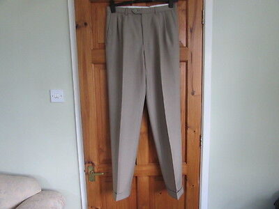 New M&S  northern soul / rockabilly twin pleated turn up trousers W 32 X L  35