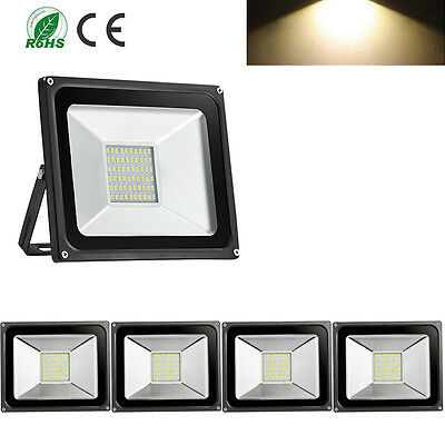 5X 30W LED Floodlight Outdoor Lamp IP65 Waterproof Flood Light Warm White
