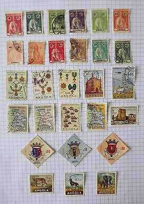 Collection of Angola stamps.