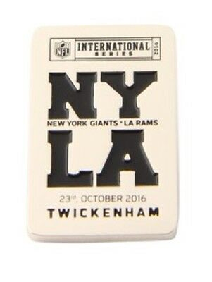 Nfl International Series 2016 - Ny La Twickenham Giants - L A Rams Pin Badge