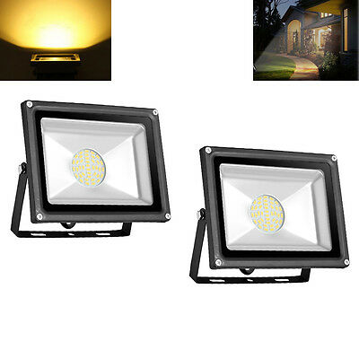 2X 30W SMD LED Warm White Floodlight Outdoor Garden Security Lamp Flood Light