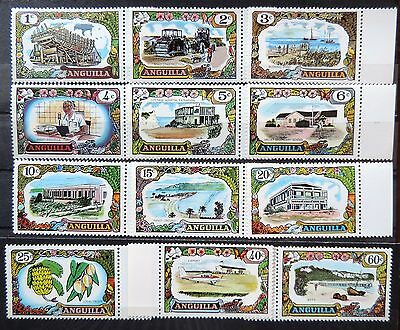 ANGUILLA - 1970 - Industry and Economy  - Lot of 12 MH