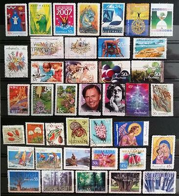 AUSTRALIA -  Lot of 40 mixed used stamps