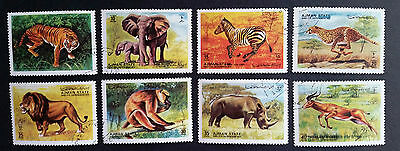 AJMAN - 1972 - Animals from the Wild - Full set of 8 used