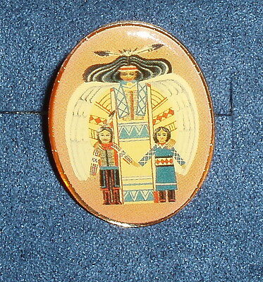 Vintage Angel Lapel Hat Pin Native American