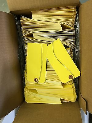 Yellow Shipping Tags 2 5/8 X 5 1/4  Wired Box Of 1000