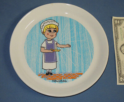 """Holiday Inn Souvenir Collectors Plate by Shenango with Patty the Maid 8"""" Dish"""