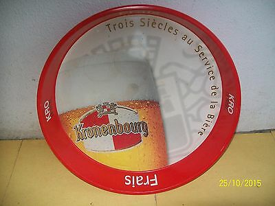 PLATEAU de BAR PUBLICITE BIERE KRONENBOURG METAL TRAY ADVERTISING BEER tablett