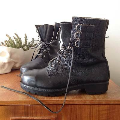 Vintage Blundstone Leather Steelcap Army Boots M 6.5 / L 8.5 Gothic Grunge Punk