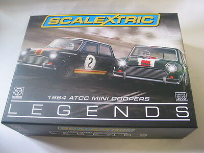 Scalextric C3586A TOURING CAR LEGEND 1964 ATCC MINI COOPER BOX SLIGHT SHELF WEAR