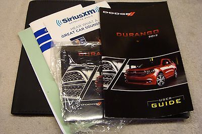 NICE 2012 Dodge Durango Owners Manual Guide Book W/ DVD FACTORY CASE used SET
