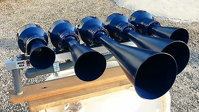 CSX BLUE K5LA PVC NATHAN TRAIN HORN with METAL BRACKET for AUTO HOOK UP!