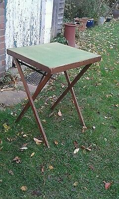 Vintage card table, foldable, project, up-cycle