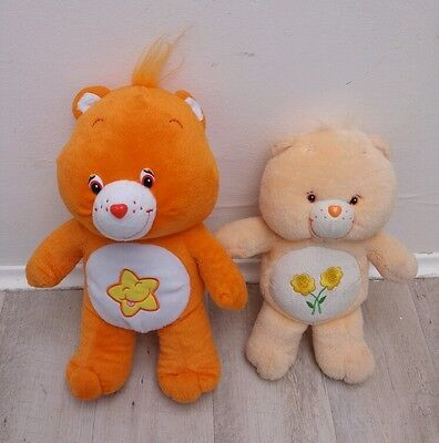 Lot 2 Peluches Bisounours Gros sourire Gros copain Care Bears