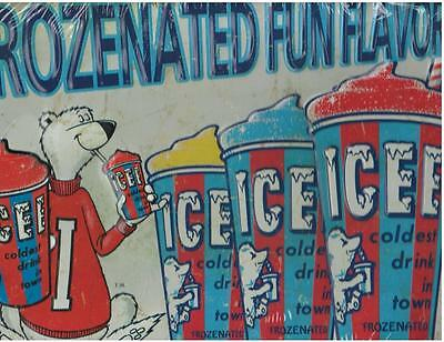 Icee Frozenated Fun Embossed Metal Sign