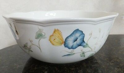 """LENOX BUTTERFLY MEADOW 9"""" Round Serving Bowl Scolloped Edge EXCELLENT CONDITION"""