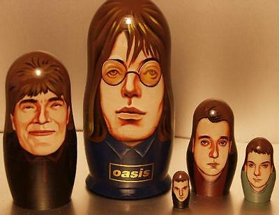 Oasis - Very Rare Hand Painted Wooden Doll Set - Made In Russia