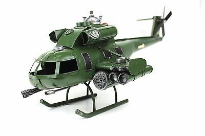 Handmade Military Helicopter Replica Metal Model