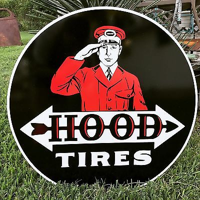 Antique Vintage Old Look Hood Tires Sign Porcelain Look 24inches!