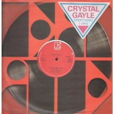 """CRYSTAL GAYLE Everything I Own 12"""" VINYL 3 Track With Info Stickered Company"""