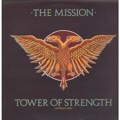 """MISSION Tower Of Strength 12"""" VINYL 3 Track Bombay Mix B/W Fabienne And Breathe"""
