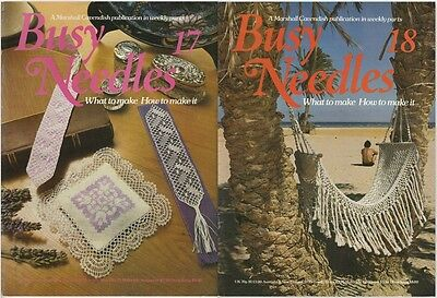 2 Vintage 1981 Busy Needles Books No.17 - Lots Of Projects - Macrame Hammock