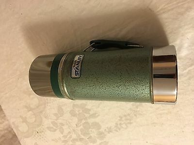 VTG STANLEY ALADDIN Vacuum Green Thermos Coffee Wide Mouth A-1350B Vintage