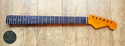 Strat Stratocaster Rosewood & Flame Maple Electric Guitar Neck 22 Fret Gloss