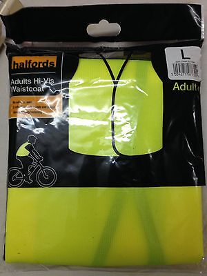 High Vis Waistcoat Vest Cycling Adult Large