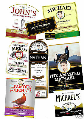 Personalised Whiskey/whisky Labels For Any Occasion - With Or W/o Photo
