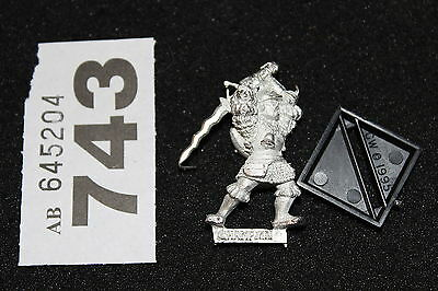 Games Workshop Mordheim Reiklander Champion New Warhammer Metal Figure Empire C3