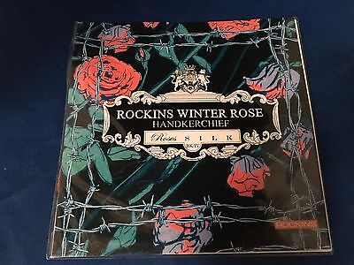 Rockins Winter Rose Handkerchief - Roses Silk BK/IV